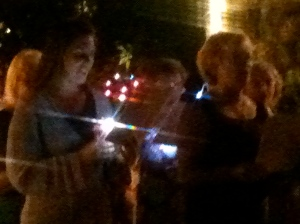 Caroling for the tourists in Kona Village before the candlelight service at the oldest church in Hawaii